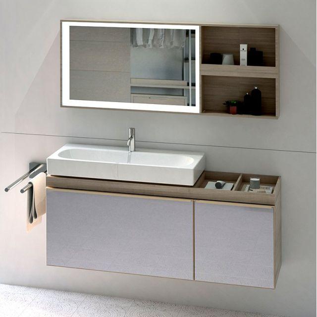 Geberit Citterio 135cm Illuminated Mirror with Storage Shelf