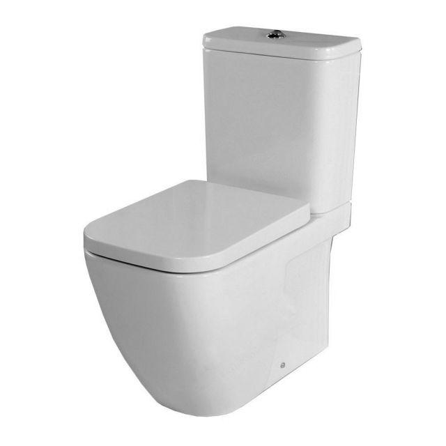 Origins Fuchsia Close Coupled Toilet with Soft Close Seat