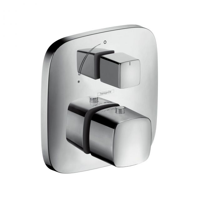 Hansgrohe PuraVida Thermostatic Shower Mixer Valve with Diverter