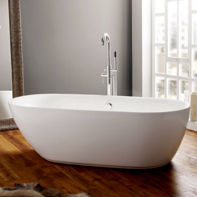 April Cayton Modern Freestanding Oval Bath