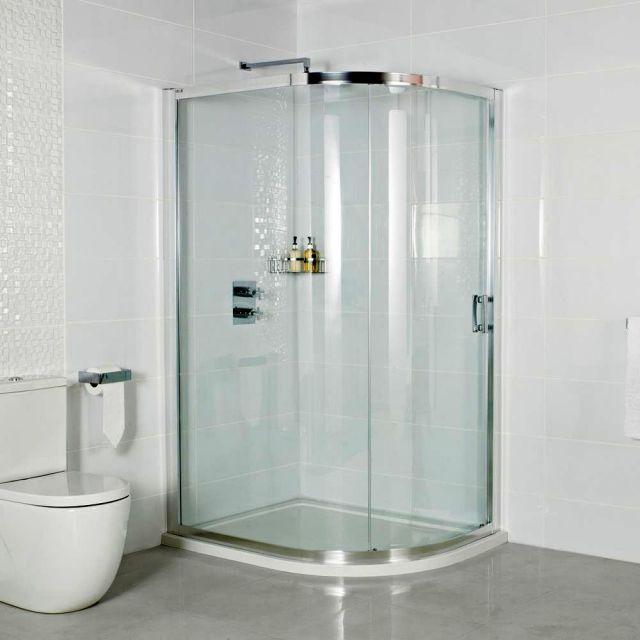 Roman Embrace Single Door Offset Quadrant Shower Enclosure