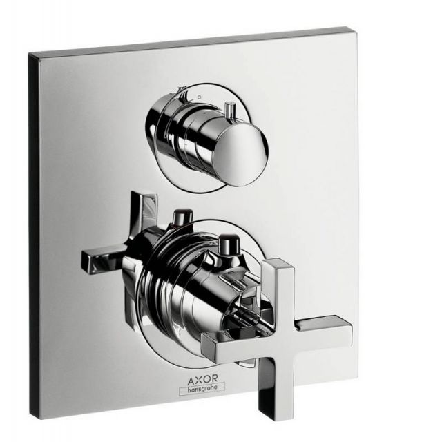 AXOR Citterio Shower Mixer with Shut-Off and Diverter Valve (Cross Handle)