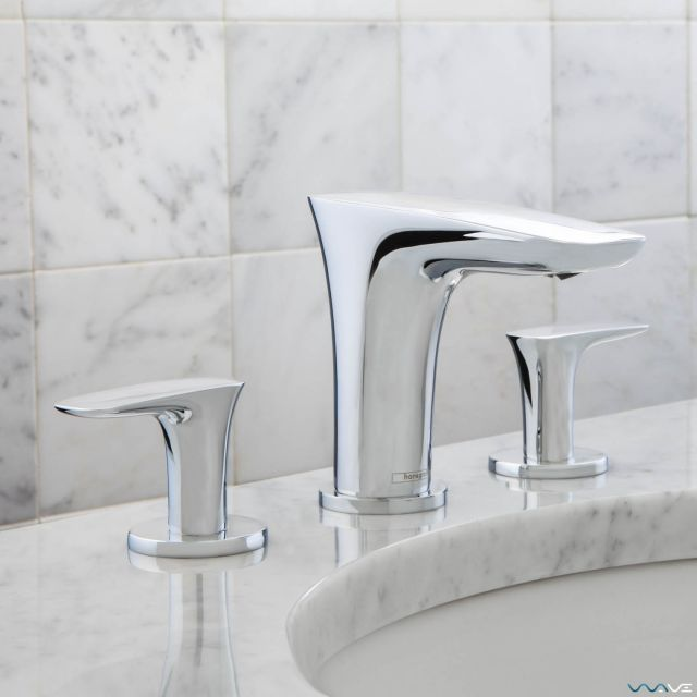 Hansgrohe PuraVida 3 Hole Basin Mixer with Waste