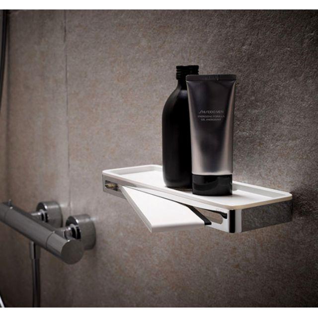 Keuco Plan Shower Basket with Glass Wiper