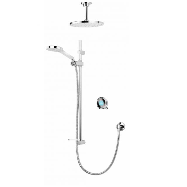 Aqualisa Q Smart Concealed Shower with Ceiling Mounted Fixed & Adjustable Heads