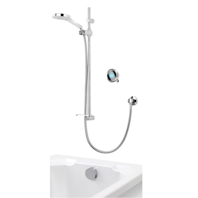 Aqualisa Q Smart Concealed Shower with Adjustable Head & Overflow Bath Filler