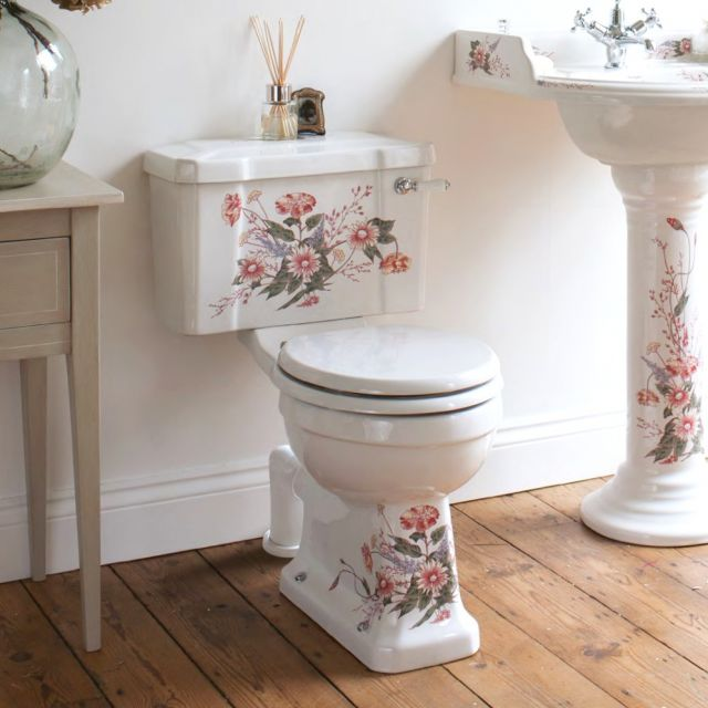 Burlington English Garden Traditional Close Coupled Toilet