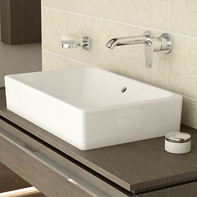 Vitra Options Nuo Rectangular Countertop Basin