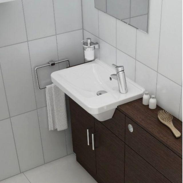 Vitra S50 Compact Square Semi-Recessed Basin - 53400030029