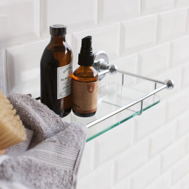 Burlington Shelf With Chrome Railing
