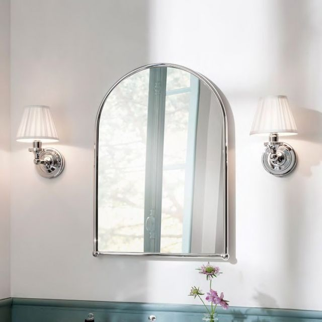 Burlington White Fine Pleated Bathroom Light