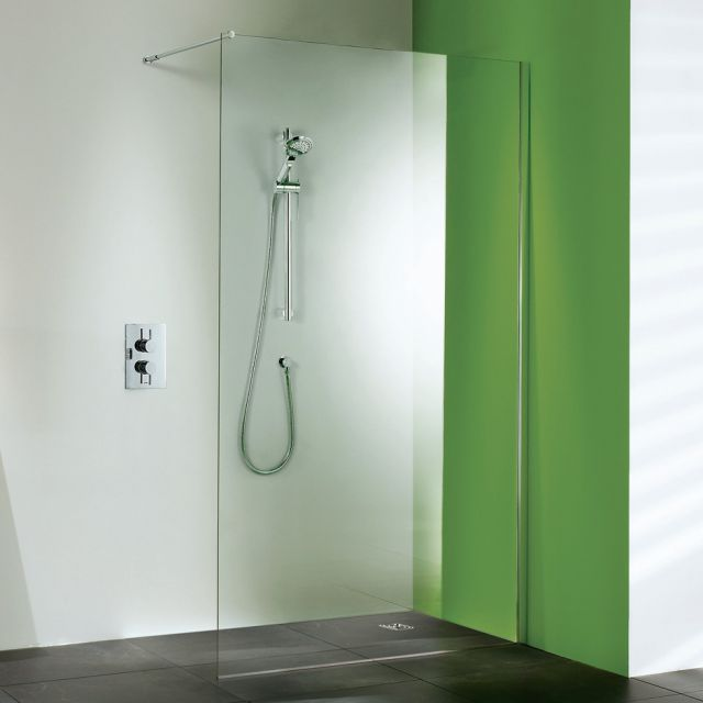 Matki Straight  Wet Room Shower Panel