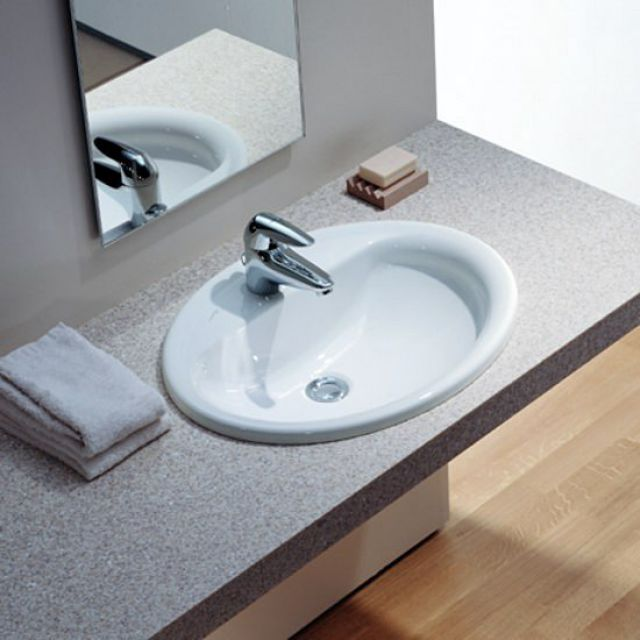 Laufen Pro B Drop-in washbasin - 13951WH
