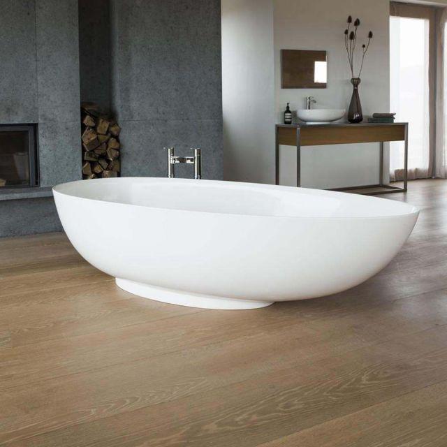 Clearwater Teardrop Grande Clearstone Freestanding Bath - M11FCS