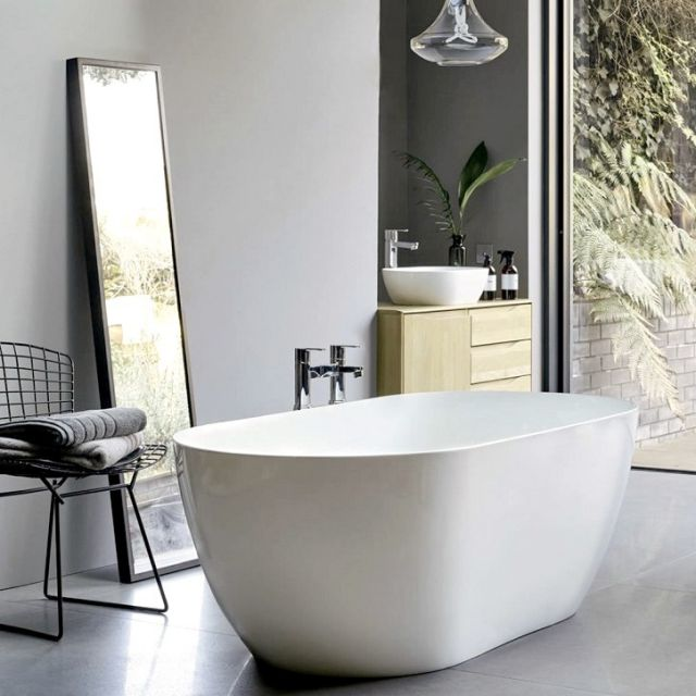 Clearwater Formoso Grande Clearstone Freestanding Bath - N2ACS