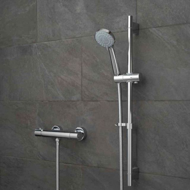 Vado Prima Thermostatic 3 Function Shower Kit with Wall Brackets