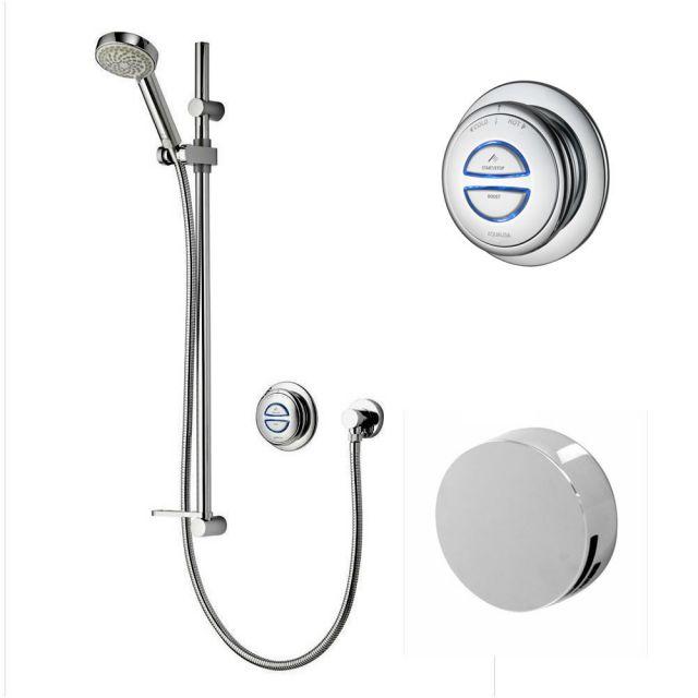 Aqualisa Quartz Smart Concealed Shower with Adjustable Head & Overflow Bath Filler