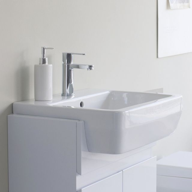 Britton Cube Semi-Recessed Basin 55cm