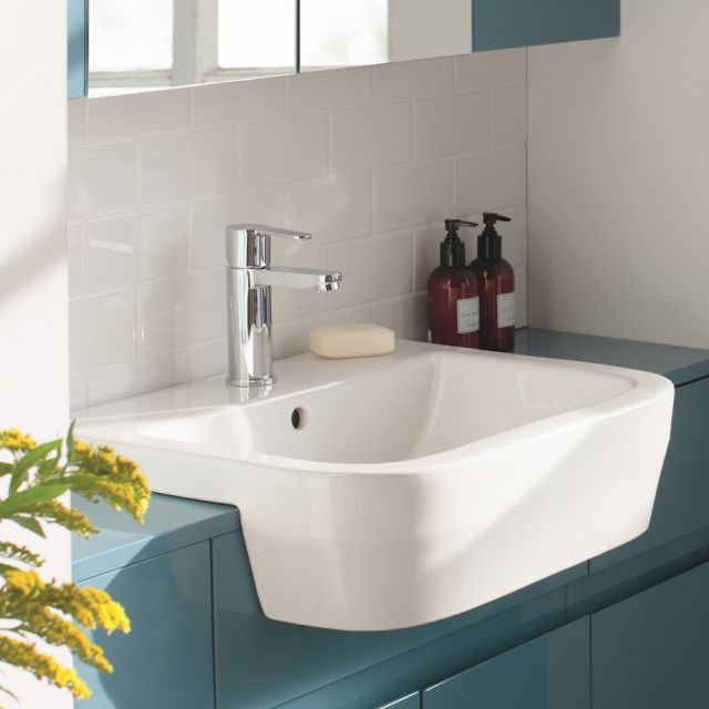 Britton Curve Semi-Recessed Basin 55cm