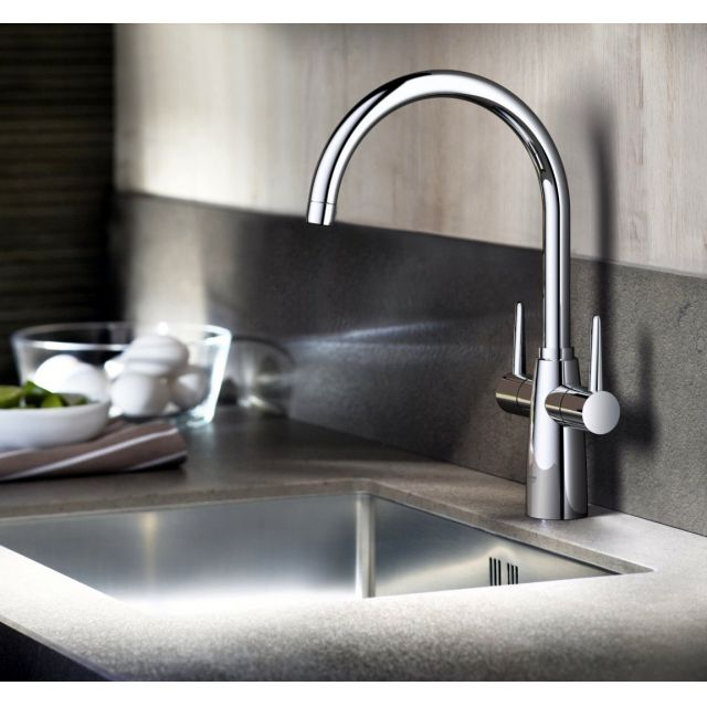 Grohe Ambi Two handle Kitchen Mixer Tap