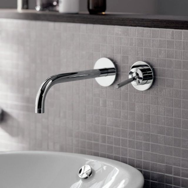 AXOR Uno Wall Mounted Basin Mixer Tap, 165 mm Spout - 38113000