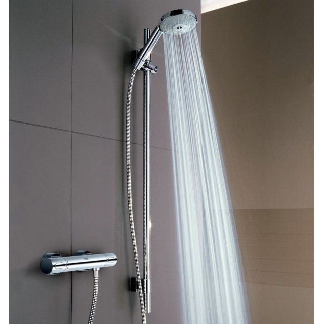 Grohe Grohtherm 3000 Thermostatic Shower Mixer with Rainshower Cosmopolitan Shower Set