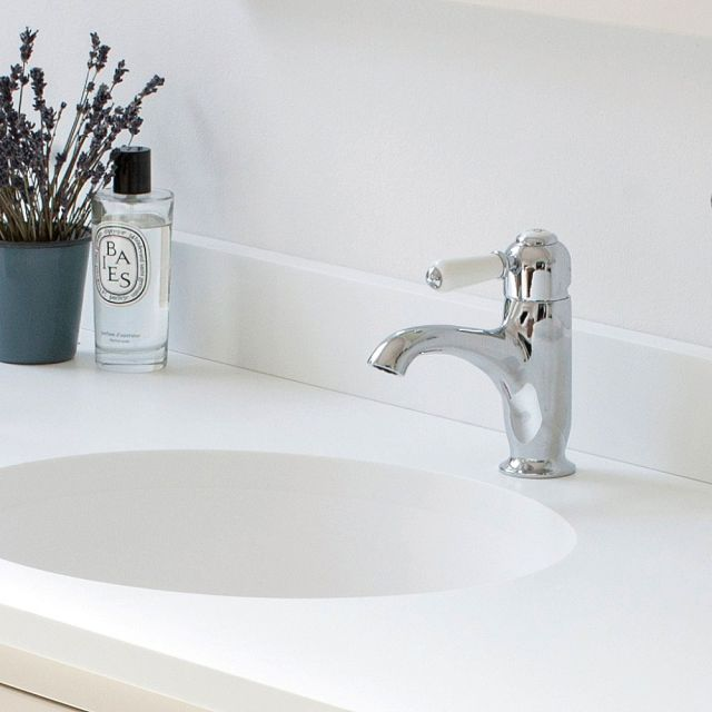 Burlington Chelsea Curved Spout Monobloc Mixer Tap