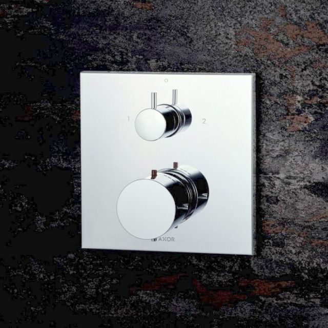 AXOR Starck X Thermostatic Shower Mixer with 2 Outlets