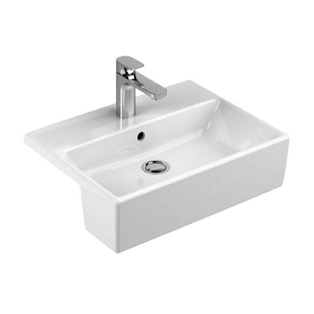 Abacus Bathrooms Pure Semi-recessed Washbasin