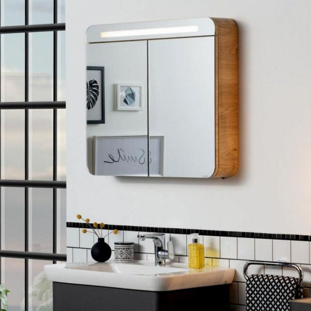 Vitra Sento Illuminated Double Door Mirror Cabinet