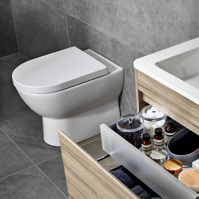 Abacus Bathrooms Simple Back to Wall Toilet