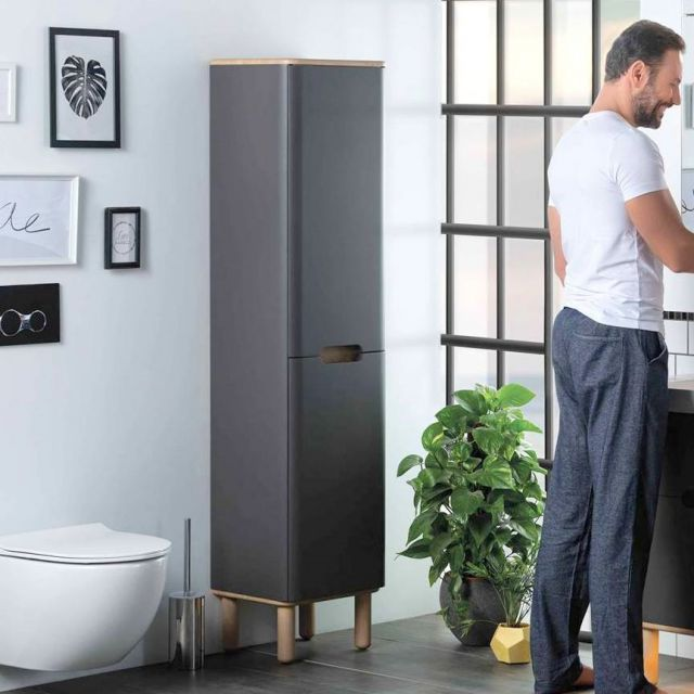 Vitra Sento Tall Storage Unit, with Laundry Basket