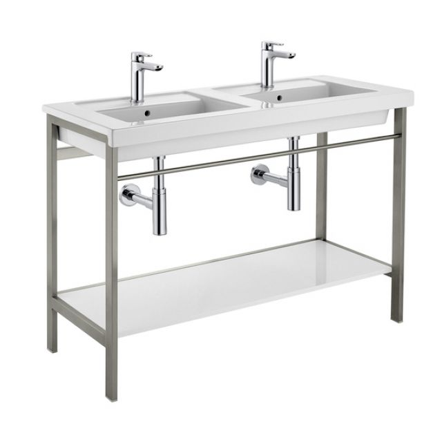 Roca Prisma 1200mm Double Basin with Metal Structure