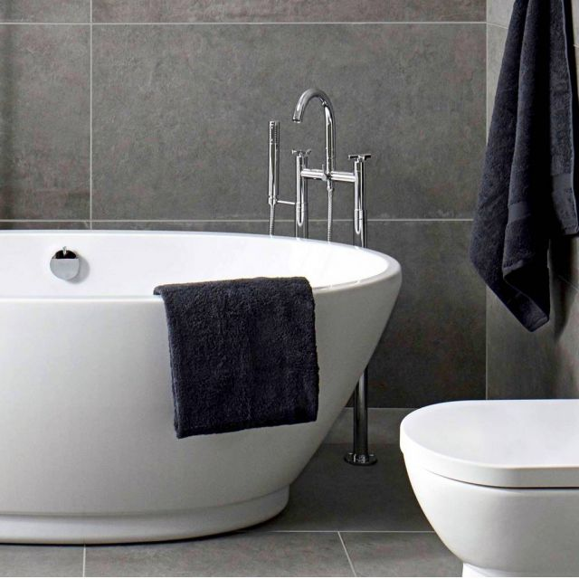 Abacus XS Freestanding Bath Shower Mixer Tap - TBTS-35-3602