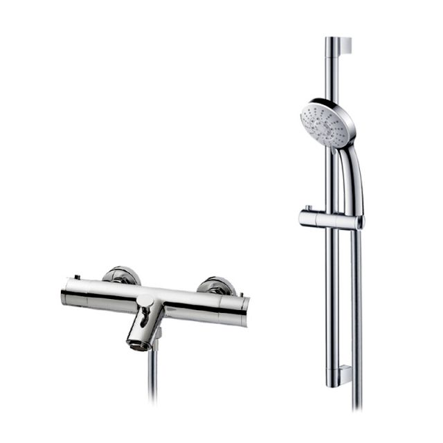 Abacus Emotion Exposed Bath Shower Mixer with Riser Rail Kit E11