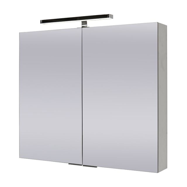 Abacus Pure Double Door Mirror Cabinet 80