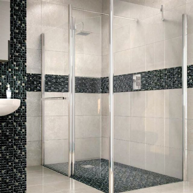 Abacus E Series Walk In Shower Screen, with Return Panel