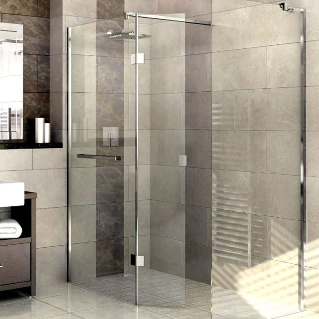 Abacus M Series Walk In Shower Screen, with Return Panel