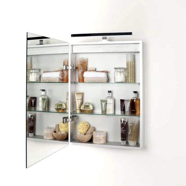 Abacus Pure Single Door Mirror Cabinet 50