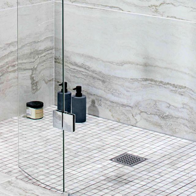 Abacus Level Access 30mm Shower Base, with Square Drain