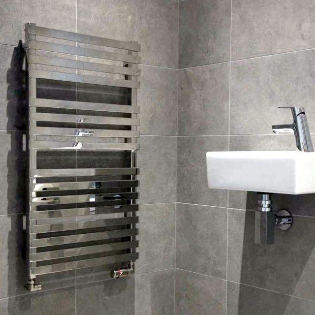 Abacus Kubik Mini Stainless Steel Towel Radiator