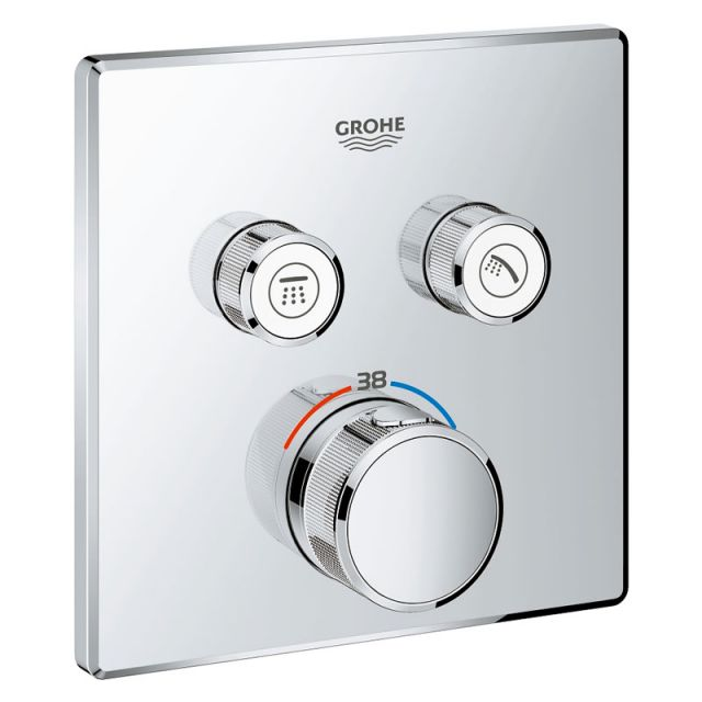 Grohe SmartControl Double Thermostatic Square Valve