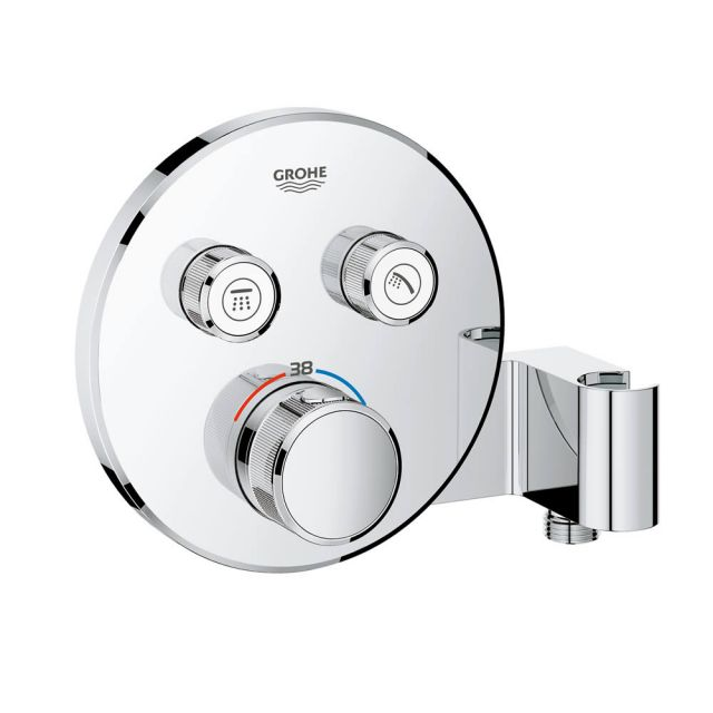 Grohe SmartControl Double Thermostatic Round Valve with Holder