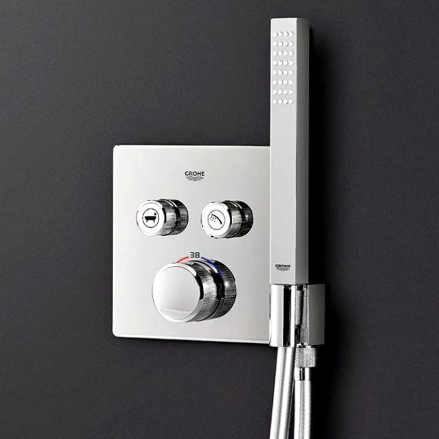 Grohe SmartControl Double Thermostatic Square Valve with Holder