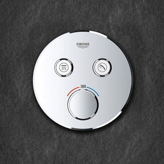 Grohe SmartControl Double Thermostatic Round Valve