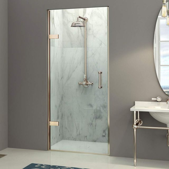 Matki EauZone Plus Hinged Shower Door for Recess