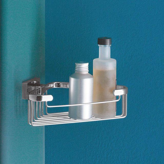 Inda Lea Corner Soap and Sponge Wire Basket - A18310CR