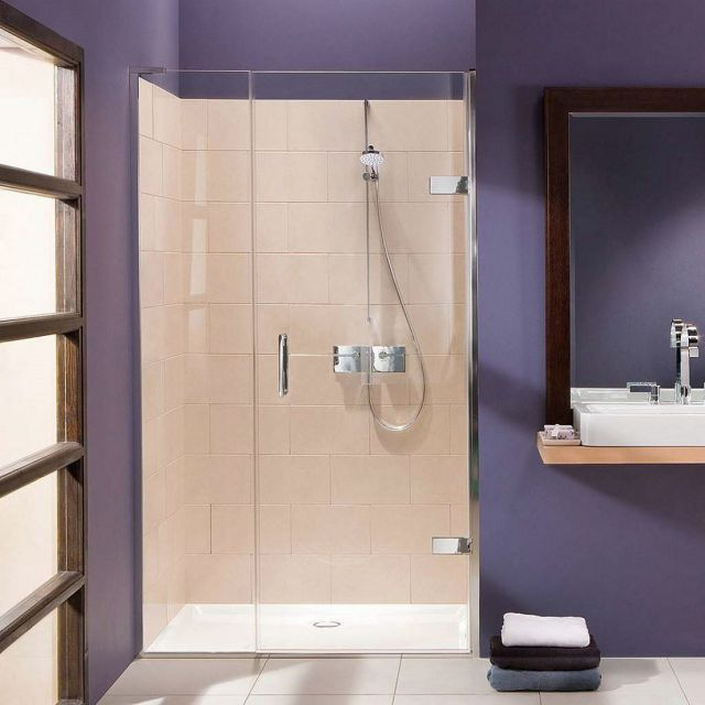 Matki EauZone Plus Hinged Door from Wall With Inline Panel for Recess