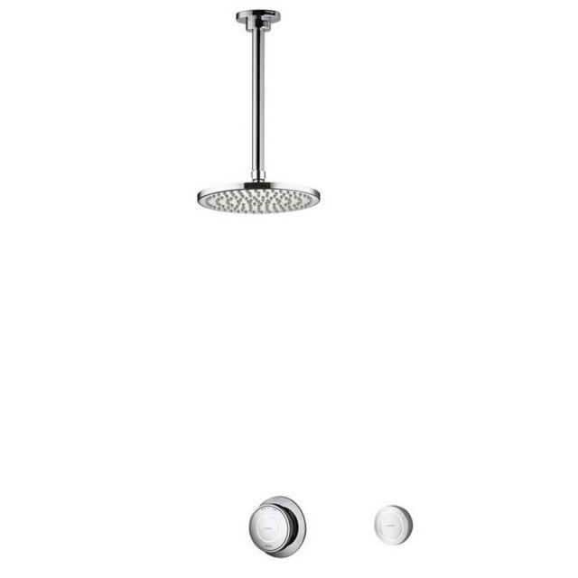 Aqualisa Rise Smart Digital Concealed Shower with Ceiling Mounted Drencher Head