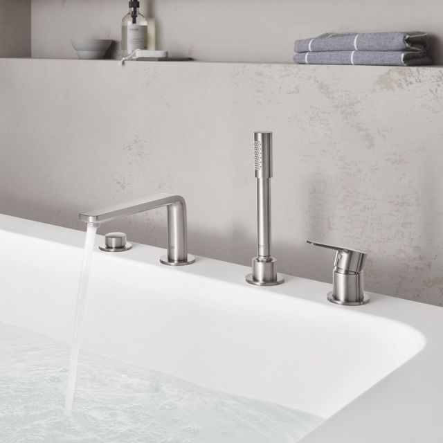 Grohe Lineare 4-hole Bath Mixer with Shower Handset